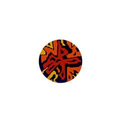 Orange ball 1  Mini Buttons