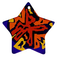 Orange ball Ornament (Star)