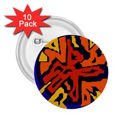 Orange ball 2.25  Buttons (10 pack)
