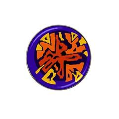 Orange ball Hat Clip Ball Marker (4 pack)
