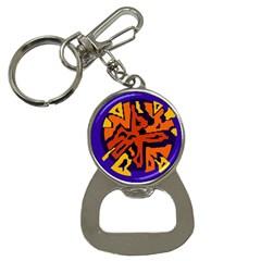 Orange ball Bottle Opener Key Chains