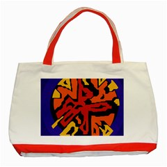 Orange ball Classic Tote Bag (Red)