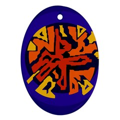 Orange ball Oval Ornament (Two Sides)