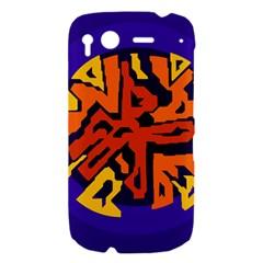 Orange ball HTC Desire S Hardshell Case