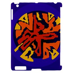 Orange ball Apple iPad 2 Hardshell Case (Compatible with Smart Cover)
