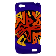 Orange ball HTC One V Hardshell Case