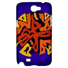 Orange ball Samsung Galaxy Note 2 Hardshell Case
