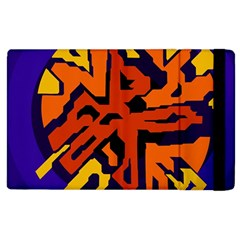Orange ball Apple iPad 2 Flip Case
