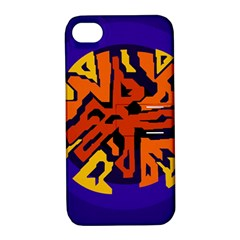 Orange ball Apple iPhone 4/4S Hardshell Case with Stand