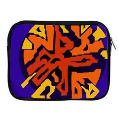 Orange ball Apple iPad 2/3/4 Zipper Cases