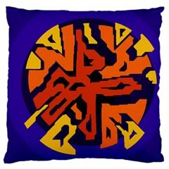 Orange ball Large Flano Cushion Case (Two Sides)