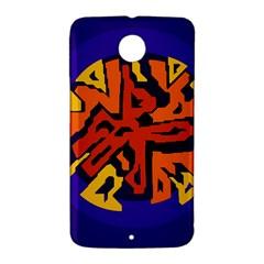 Orange ball Nexus 6 Case (White)