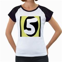 Number five Women s Cap Sleeve T