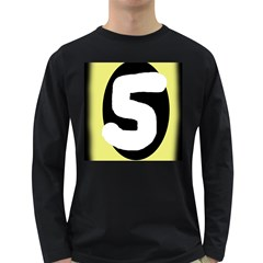 Number five Long Sleeve Dark T-Shirts
