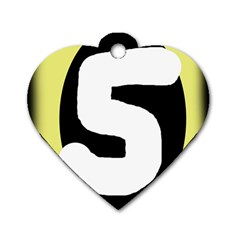 Number five Dog Tag Heart (One Side)