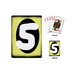 Number five Playing Cards (Mini)