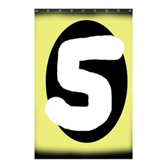 Number five Shower Curtain 48  x 72  (Small)