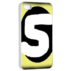 Number five Apple iPhone 4/4s Seamless Case (White)