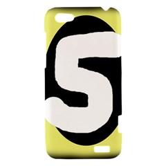 Number five HTC One V Hardshell Case