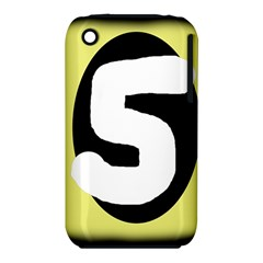 Number five Apple iPhone 3G/3GS Hardshell Case (PC+Silicone)
