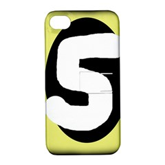 Number five Apple iPhone 4/4S Hardshell Case with Stand