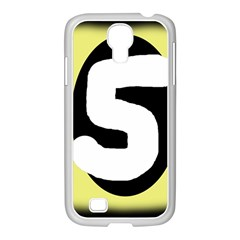 Number five Samsung GALAXY S4 I9500/ I9505 Case (White)