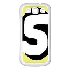 Number five Samsung Galaxy S3 Back Case (White)