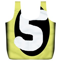 Number five Full Print Recycle Bags (L)