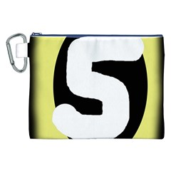 Number five Canvas Cosmetic Bag (XXL)