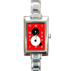Number eight Rectangle Italian Charm Watch