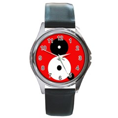 Number eight Round Metal Watch