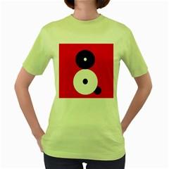 Number eight Women s Green T-Shirt