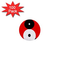 Number eight 1  Mini Buttons (100 pack)