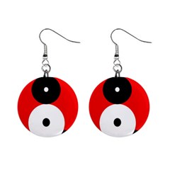 Number eight Mini Button Earrings