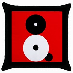 Number eight Throw Pillow Case (Black)