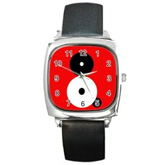 Number eight Square Metal Watch