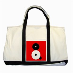 Number eight Two Tone Tote Bag