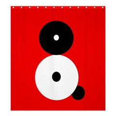 Number eight Shower Curtain 66  x 72  (Large)