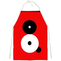 Number eight Full Print Aprons