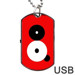 Number eight Dog Tag USB Flash (Two Sides)