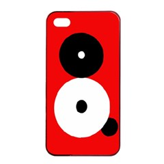 Number eight Apple iPhone 4/4s Seamless Case (Black)