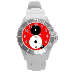 Number eight Round Plastic Sport Watch (L)