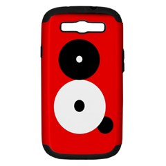 Number eight Samsung Galaxy S III Hardshell Case (PC+Silicone)