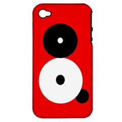 Number eight Apple iPhone 4/4S Hardshell Case (PC+Silicone)