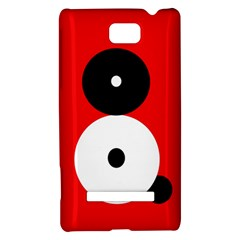 Number eight HTC 8S Hardshell Case