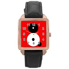 Number eight Rose Gold Leather Watch