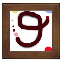 Number nine Framed Tiles