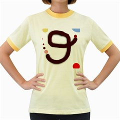 Number nine Women s Fitted Ringer T-Shirts