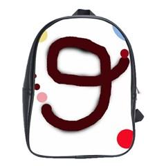 Number nine School Bags(Large)