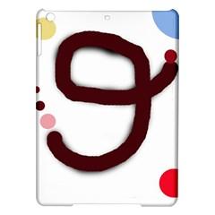 Number nine iPad Air Hardshell Cases